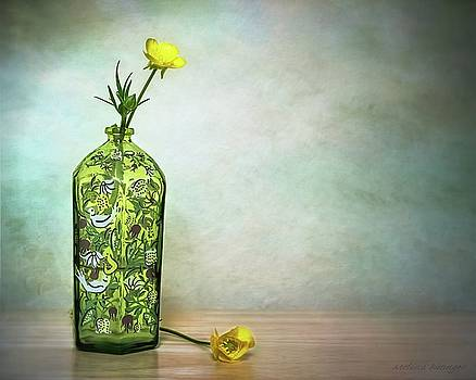 Buttercups Wildflowers in Vase Still Life Floral by Melissa Bittinger