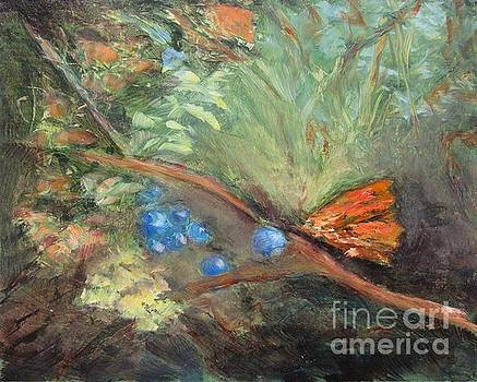 Butterflies and Blue Berries by Vivian Haberfeld