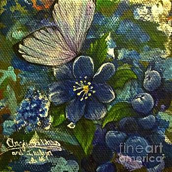 Butterflies and Blueberries by Angie Sellars