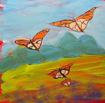 Butterflies Flying 2 by Pam Van Londen