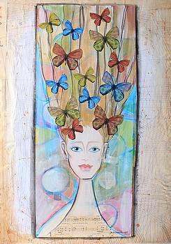 Butterflies on her hair by Johanna Virtanen