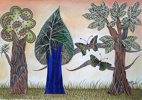 Butterflies in Love by Graciela Bello