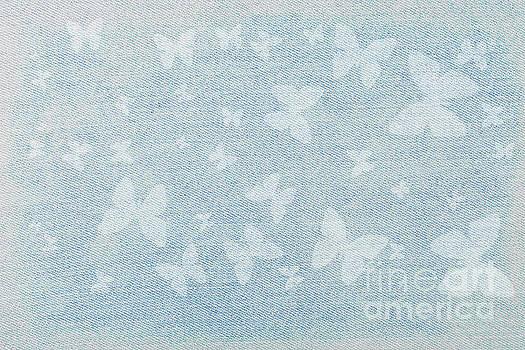 Butterflies On Faded Denim by Diane Macdonald