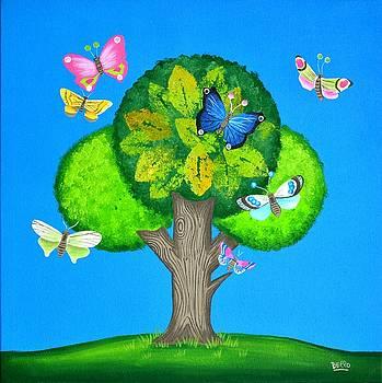 Butterflies refuge by Graciela Bello