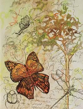 Butterfly Art Journal by Michele Hollister - for Nancy Asbell