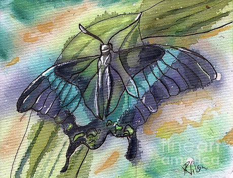 Butterfly Bamboo Black Swallowtail by D Renee Wilson