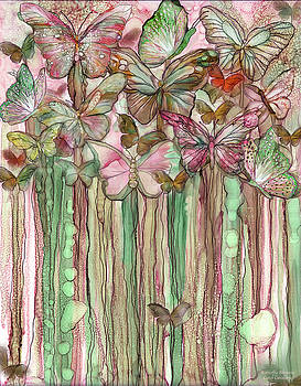 Butterfly Bloomies 1 - Pink by Carol Cavalaris