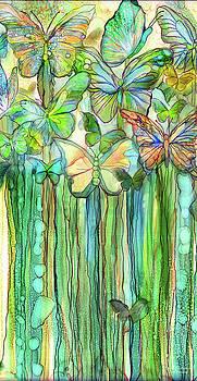 Butterfly Bloomies 2 - Rainbow by Carol Cavalaris