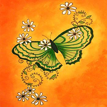 Butterfly Doodle by Karen R Scoville