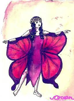 Butterfly Girl by Ocean