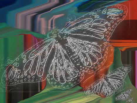 Butterfly in techno color by Jason Stephenson