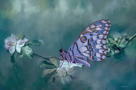 Butterfly in the Flowers 2 - Painting by Ericamaxine Price