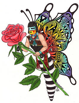 Butterfly Maiden by Alfred Dawahoya