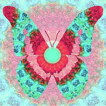 Sharon Cummings - Butterfly Mandala 3 Art by Sharon Cummings