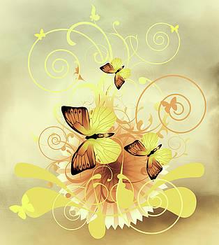 Butterfly Morning Contemporary Art by Georgiana Romanovna