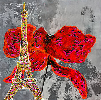 Butterfly Over Paris by Sheila McPhee