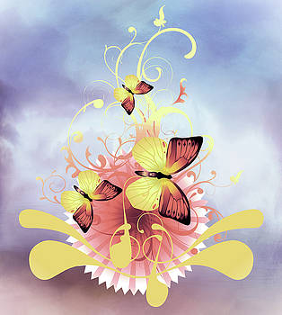 Butterfly Songs Contemporary Art by Georgiana Romanovna