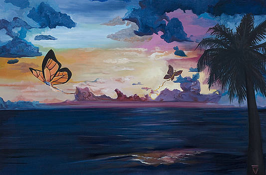 Butterfly Sunset by Victoria Dietz