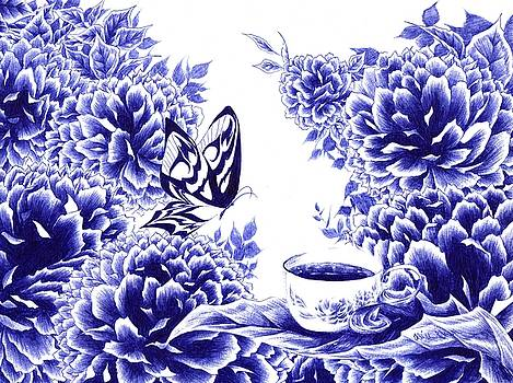 Butterfly Teatime by Alice Chen