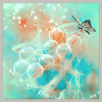 Butterfly with Angel bubbles by Agnes V
