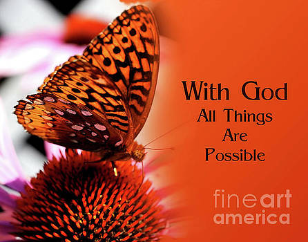 Butterfly With God Inspirational by Smilin Eyes  Treasures