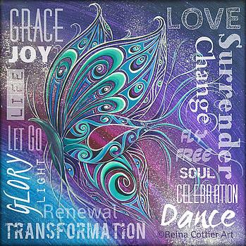 Butterfly Wordart  Joy by Reina Cottier
