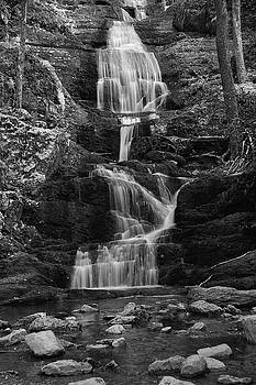Buttermilk Falls in Black and White by Raymond Salani III