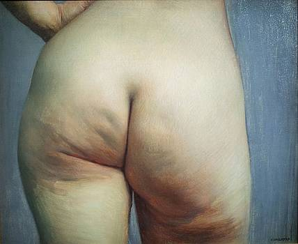 Buttocks and left hand on hip by Felix Vallotton