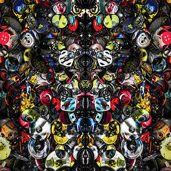 Button Box Abstract 1 by Michael Arend