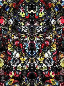 Button Box Abstract 3 by Michael Arend