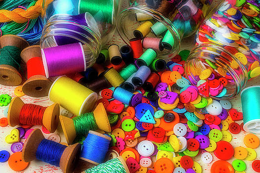 Buttons And Thread Spilling from Jars by Garry Gay