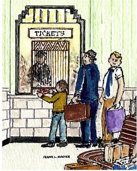 Buying Snacks at The Ticket Office by Frank Hunter