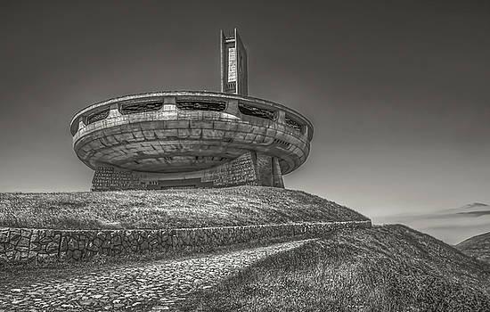 Buzludzha abandoned communist building in the Balkan mountains by Julian Popov