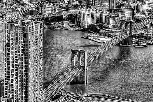 BW Brooklyn Bridge by Mike Berry