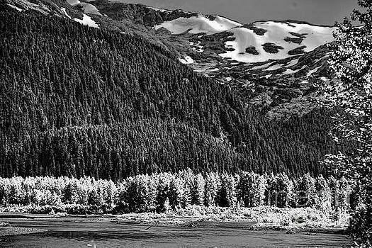 BW Landscape Alaska  by Chuck Kuhn