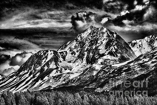 BW mountains Alaska  by Chuck Kuhn