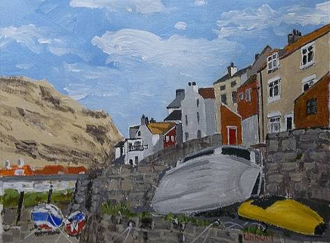 By The Beck,Staithes by Fred Urron