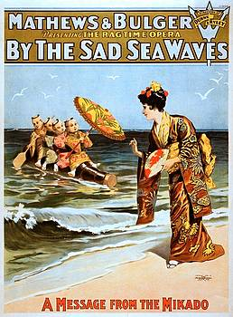 By the sad sea waves, performing arts poster, 1898 by Vintage Printery