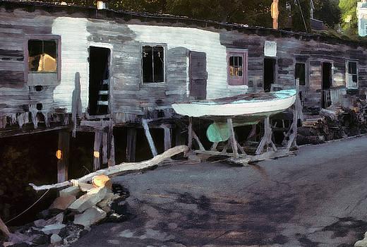 Bygone Boatyard by Carol Kinkead