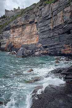 Byrons Grotto Porto Venere Italy by Joan Carroll