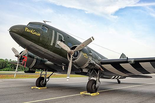 C-47 on the ramp by Chris Buff