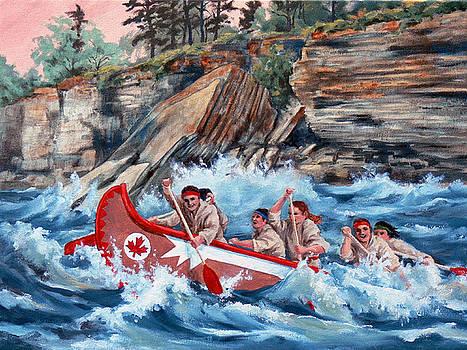 C A Historic Canoe Race by RoseMarie Condon
