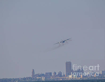 C130 over Buffalo by Jim Lepard