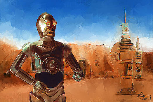C3PO Star Wars by Michael Greenaway