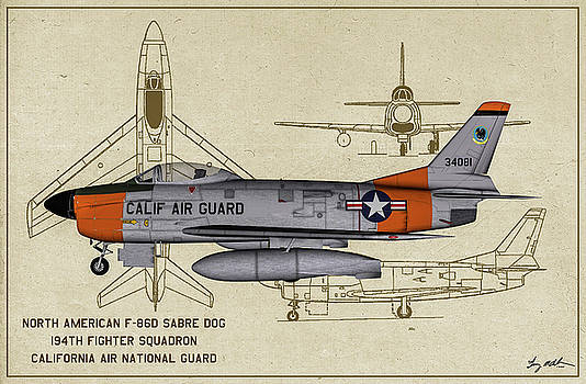CA Sabre Dog - Profile Art by Tommy Anderson