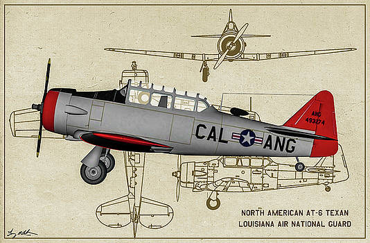CA - Texan - Profile Art by Tommy Anderson