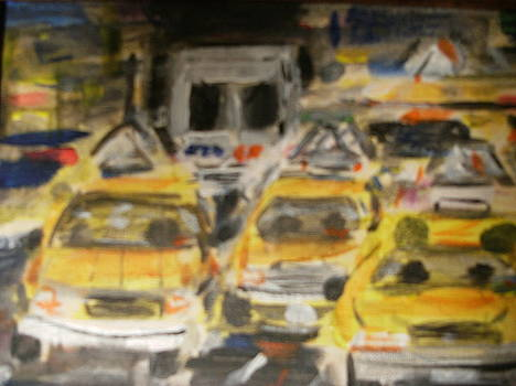 Cabbies in NYC by Bob Smith