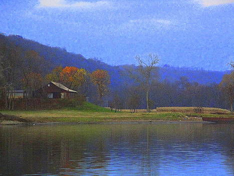 Cabin By The Ohio River by Terry  Wiley