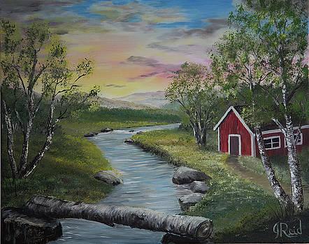 Cabin By The River by John Reid