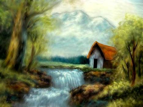 Cabin by the river by Rafi Talby